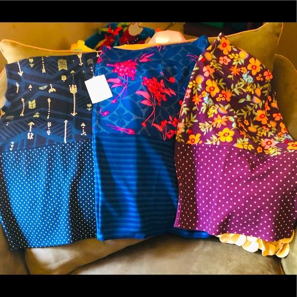 3 pc LuLaroe Cassie Skirts Size Small
